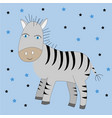 cute cartoon zebra print vector image