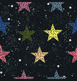 cute star background seamless pattern with stars vector image vector image