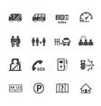 dangers of public bus icons set flat design vector image vector image