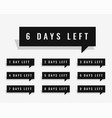 days left countdown banner for sale and promotion vector image