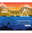 Design amusement park banners vector image