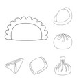 design of food and dish symbol collection vector image vector image