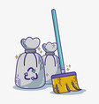 domestic service equipment to clean house vector image vector image