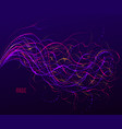 dotted particle array flowing abstract background vector image vector image