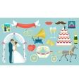 Flat Wedding Icon Set vector image vector image