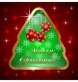 Glass Christmas Tree with Ball and Snowflakes vector image vector image