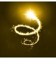 Glowing magic spiral vector image vector image
