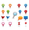 gps icon set vector image vector image