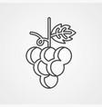 grape icon sign symbol vector image vector image