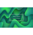 green fluid liquid wavy background vector image
