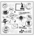 halloween grunge stamps vector image vector image