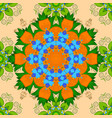 hand drawn seamless autumn floral flower pattern vector image vector image