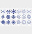 huge set of blue snowflakes vector image