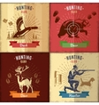 Hunting Club Emblems Set vector image vector image