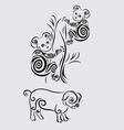Koala and pig vector image vector image