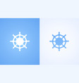 logo of steering wheel vector image vector image