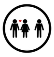 Love triangle relationship vector image vector image