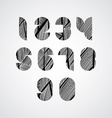 Modern digital shaped stylized numbers vector image