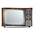 old television set vector image