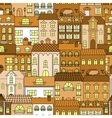 Old town vintage seamless pattern background vector image vector image