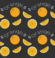 oranges on black field vector image vector image