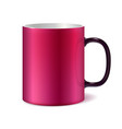 pink and white big ceramic cup vector image
