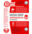 poster for world blood donation donor day vector image vector image