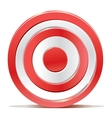 Red darts target aim on white background vector image