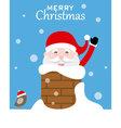 Santa claus inside chimney vector image vector image