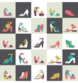 Seamless with beautiful heels vector image