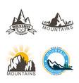 set mountains logo logo outdoor adventure vector image vector image