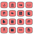 set simple books icons vector image vector image