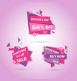 shopping sale happy mother day discount sticker vector image vector image