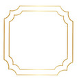 simple gold hand drawn border vector image vector image
