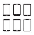 simple mobile smart phone icon set vector image vector image