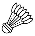 sport shuttlecock icon outline style vector image vector image