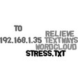 ways to relieve stress text word cloud concept vector image vector image