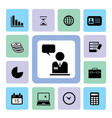 business icons set vector image