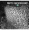 The crystal clear water drops on a shiny surface vector image