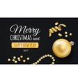 Happy New Year 2017 Merry Christmas greeting card vector image
