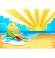 A beach vector image