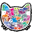 abstract kittens face vector image vector image