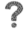 answer figure of person icons vector image vector image