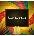 Back to school colorful background with blackboard vector image vector image