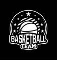 badge or emblem basketball in modern professional vector image vector image