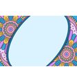 Banner with round ornament vector image vector image
