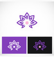 beauty lotus flower logo vector image vector image