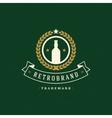 Beer Logo Template Design Element Vintage vector image vector image
