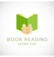Book Reading Concept Symbol Icon or Label vector image vector image