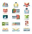book symbols reading club identity stylized vector image